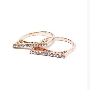 Rose Gold Pave Bar Ring